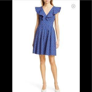Kate Spade Geo Dot Poplin Dress - NWOT